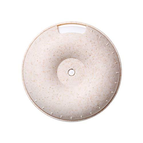 SIWUXIE-Storage Dispensador de rosquillas pequeña Caja de Pastillas Mini Caja de Almacenamiento de Medicina portátil Caja sellada con Caja de Pastillas de Color Caqui