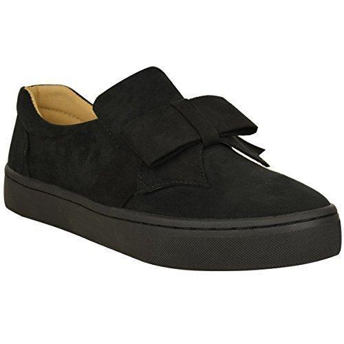 Skate Preto Planas Sapatos Ferro De Senhoras Camurça Laço Artificial Sapatos Lona Tênis Sem Bombas Tamanho De 7wPHxq