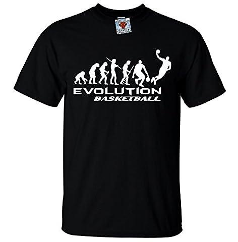 Bullshirt 's Herren 's Evolution of Basketball T-Shirt., schwarz, S (Nba Hangtime)
