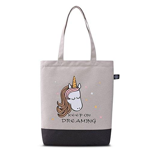 Bwiv Damen Handtasche Canvas Schultertasche Lässige Umhängetasche Große Kapazität Shopper Tasche Schöne Vintage Henkeltasche Beuteltasche J K