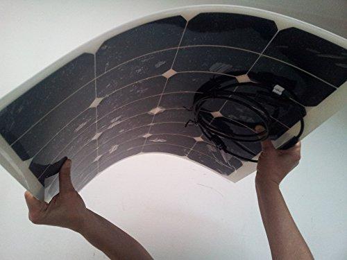Flexibles Solarmodul 100Watt 12Volt Mono Flex 100Watt Solarpanel MONOKRISTALLIN -