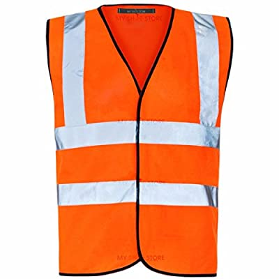 MyShoeStore Hi Vis Vest Yellow & Orange Small to 6XL 2 Band & Brace : everything five pounds (or less!)