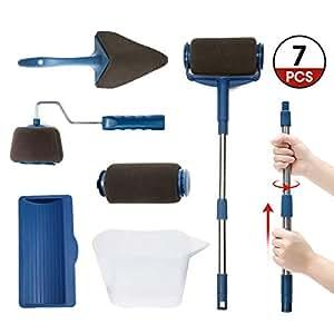 7pcs kit de rouleau de peinture artistore avec poign e et couture professionnel pour peinture. Black Bedroom Furniture Sets. Home Design Ideas