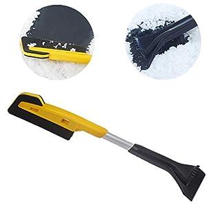 Detachable Snow Brush with Ice Scraper, DesignerBox 2 in 1 Snow Shovel EVA Foam Snow Brush Snow Broom with Ice Scraper Snow Squeegee Snow Removal De-icer Tool Set for Car Truck - 25 inch (Style 1)