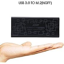 Carcasa USB 3.0 externa para discos PCI Express M.2 y NGFF M.2 SSD. Adaptador USB 3.0 a NGFF M.2