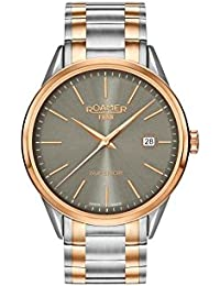 Roamer Men's Quartz Watch with Grey Dial Analogue Display and Two Tone Stainless Steel Bracelet 508833 49 05 51
