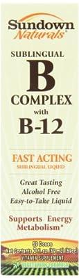 Sundown Vitamin B12 Complex Sublingual Liquid, 2 Oz from Sundown Naturals