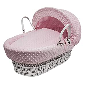 Pink Dimple Moses Basket Dressings only(Basket not included)   14