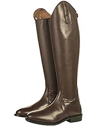 Hkm–Botas de equitación Italy Soft Piel Corta/Gran Marrón marrón Talla:38 EU