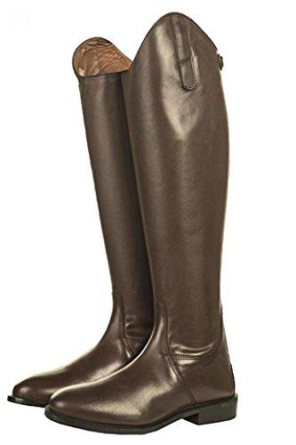HKM Herren Reitstiefel-Italy,Soft Leder, Kurz/Standardweite, Braun, 44