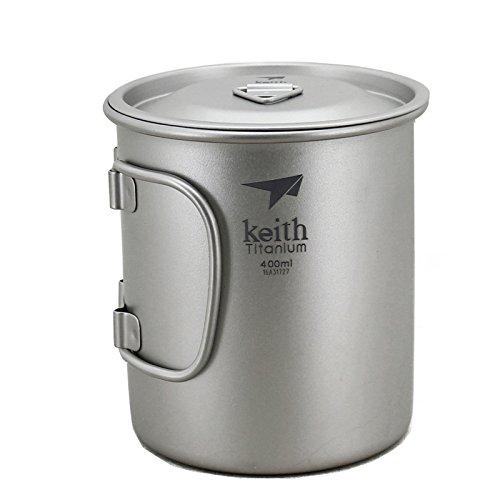 Keith Titan Becher Outdoor Mug Camping Tasse Mit Deckel Picknick Geschirr(400ml.Ti3203)