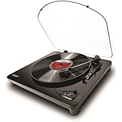 ION Audio Air LP - Tocadiscos con streaming de audio para Bluetooth (reproduce y convierte discos de 33 1/3, 45 y 78 RPM)