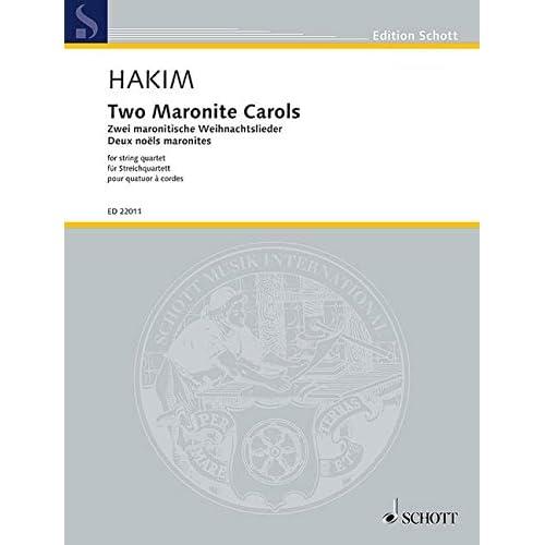 Two Maronite Carols Musique d'Ensemble-Partition+Parties Separees