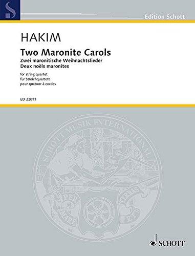 Two Maronite Carols Musique d'Ensemble-Partition+Parties Separees par Naji Hakim