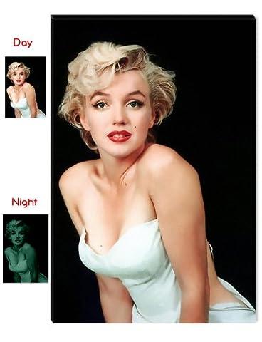 Startonight Leinwand Wand Kunst Marilyn Monroe - Die schönste Frau der Welt, Doppelansicht Überraschung Modernes Dekor Kunstwerk Gerahmte Wand Kunst 100% Ursprüngliche Fertig zum Aufhängen 80 x 120