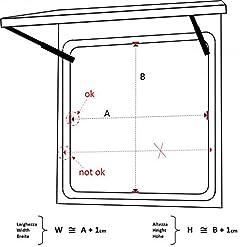 Finestra Universale EUROPA Bronzo ricambi accessori Camper Caravan dimensione foro scocca WxH = 1250x300