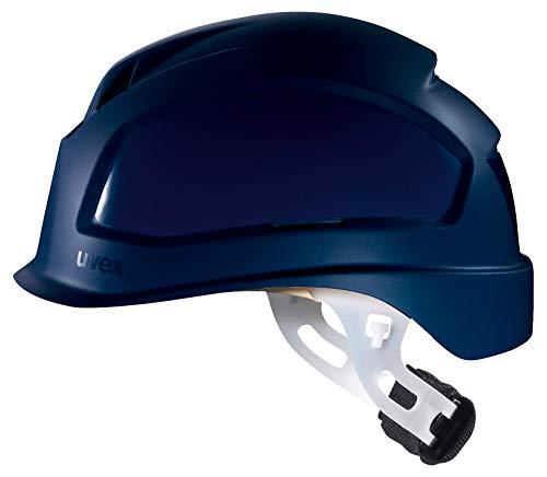 Uvex Pheos E-S-WR Schutzhelm - Unbelüfteter Arbeitshelm für Elektriker - Blau Blau