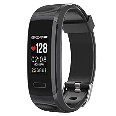Seegar Fitness Tracker, Customized Activity Tracker with Heart Rate Monitor and Sleep Monitor, GPS Route Tracking Pedometer Step Counter, IP67 Waterproof Bluetooth Pedometer by Seegar