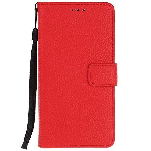 ocketcase® Wiko U Feel Lite Hülle, PU Leder Flip Case Wallet Stylish mit Standfunktion Schutzhülle (Litschi-Korn 8)