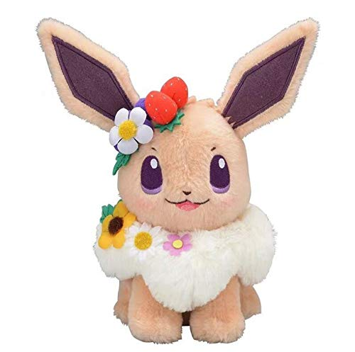 LYH2019 Authentic Japan Anime Game Pikachu&Eievui'S Easter Eevee Plush Doll Stuffed Toy Limited Plush Doll Toy 18Cm