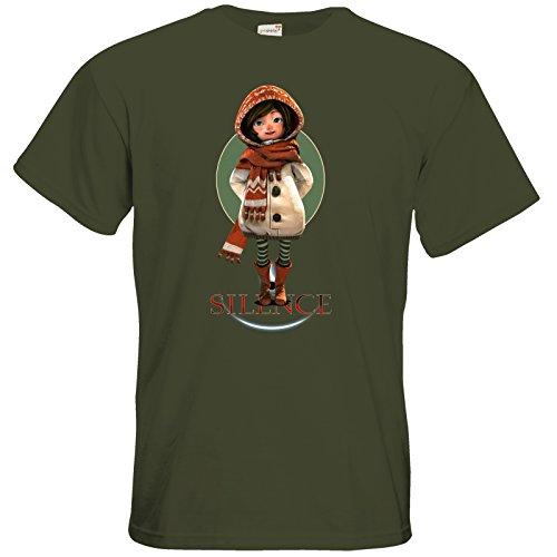 getshirts - Daedalic Official Merchandise - T-Shirt - Silence - Renie Khaki
