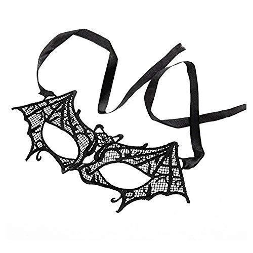 Nicedeal Sexy Augenmaske mit Spitze, kreativer Fledermaus-Stil, Halbmaske, Halloween-Party, Kostüm, Accessoires für Frauen, Schwarz, Schmuck, Accessoires, Neuheit Schmuck, Halloween-Geschenke