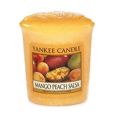 Yankee Candle 1114686E Bougies votives parfumée Mangue et pêche Cire