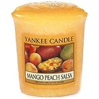 Yankee Candle Samplers Candele Votive Mango Peach Salsa, Cera, Arancione, 4.6 x 4.5 x 5.5 cm