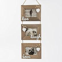 Portafoto cuore in legno - Portafoto da appendere ...