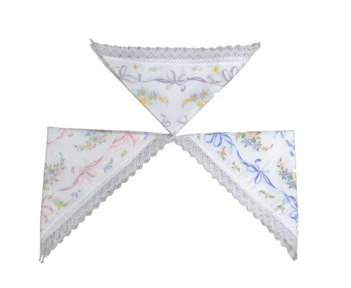 4 Lots de 3 Mouchoirs Brodés de Fleurs pour Femmes 100% Coton (6 Brodés et 6 Simples)