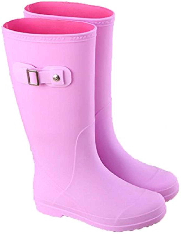 NAN Botas de lluvia Botas impermeables Botas de lluvia para mujer Botas altas para adultos Botas de lluvia antideslizantes...