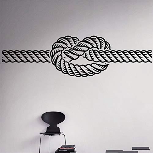 Marine Knoten Wand Vinyl Aufkleber Meer nautische Wand Aufkleber Home Wall Art Decor Ideen Wand Innenausstattung abnehmbare Kinder m Desig140 x 39 cm