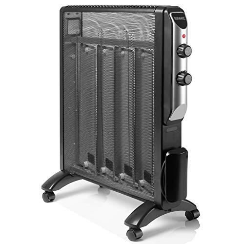 Duronic HV220 Radiador Eléctrico 2000W de Panel de Mica - Estufa sin Aceite Que calienta en 1 Minuto...
