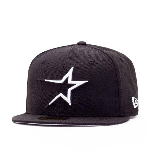 New Era Houston Astros 59FIFTY Fitted Cap black/white