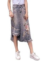 Amazon.es  Faldas Con Flecos - 20 - 50 EUR   Faldas   Mujer  Ropa f0d9caaa3265