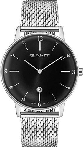 GANT Herren-Armbanduhr Analog Quarz One Size, schwarz, silber