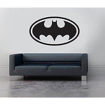 Batman Logo Symbol Emblem Vinyl Wall Art Sticker Decal Mural Transfer  Childrenu0027s Bedroom Stencil (Black)
