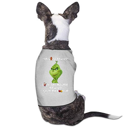Smile Shop Grinch You Curse Too Much Haustier-Kleidung, lustiges - Lustige Walking Dog Kostüm