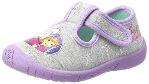 Schuhe Für Kinder Frozen (Die Eiskönigin Mädchen FZ004523 Hausschuhe, Grau (L.Grey/Lilac), 24)