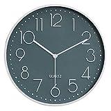HCBDQQ Horloge Murale en Verre De Haute Qualité avec Horloge Murale, Horloge Ronde Moderne Suspendue De 30 Cm D / 30Cm
