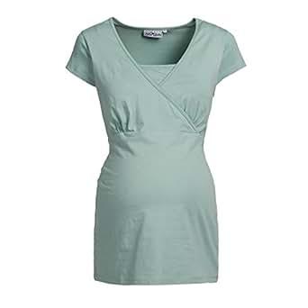 2HEARTS Still-T-Shirt Umstandsshirt Schwangerschafts-Shirt, Größe 36, grün