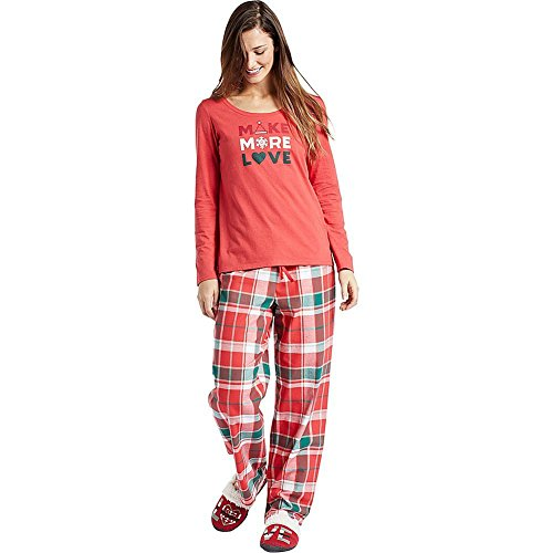 Life is Good W Classic Sleep rot Plaid amrred xl Americana Red (Damen Rote Sleep-pant)