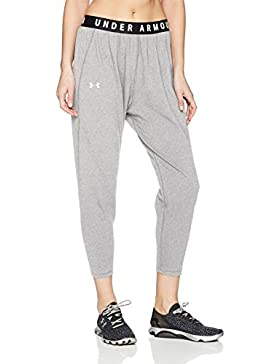 Under Armour Favorite Tapered Slouch Pantalones, Mujer, Steel Light Heather/Tonal, Large