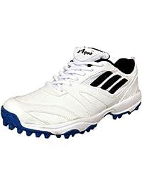 Aqua Sports White A-415 Cricket shoes