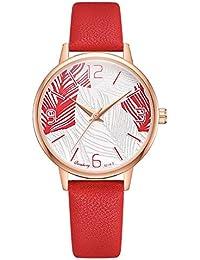 6ea41b683141 Espejo De Cristal Dial Reloj De Pulsera De Cuarzo Exquisita Reloj Moda  Casual Damas Reloj Espejo De Cuero Correa De Cuarzo Reloj Mejor…