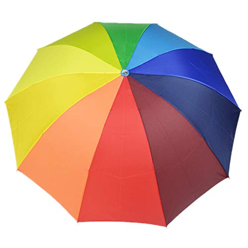 veroda Travel Regenschirm Compact Faltbare Regen Sonne/UV-Schutz Regenbogen Regenschirm