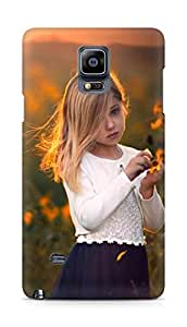 Amez designer printed 3d premium high quality back case cover for Samsung Galaxy Note 4 (Girl)