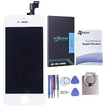 Htechy Kit de Reparación de Pantalla Para iPhone 5S Color Blanco Incluye Pantalla LCD Retina Cristal Táctil de Alta Calidad y Herramientas