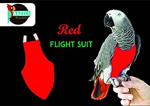Aazil Flight Suit Bird Diaper 1-Piece (Size: X-Wide, Red)