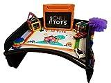Chill Tots Table de jeu pour enfants Surface de dessin effaçable pour enfants Plateau de rangement pour activités et collations Idéal pour les enfants, noir